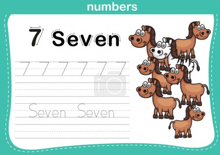 Connecting dot and printable numbers exercise with...