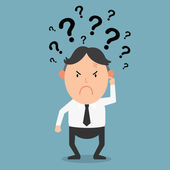 Business thinking with question marksillustration vector