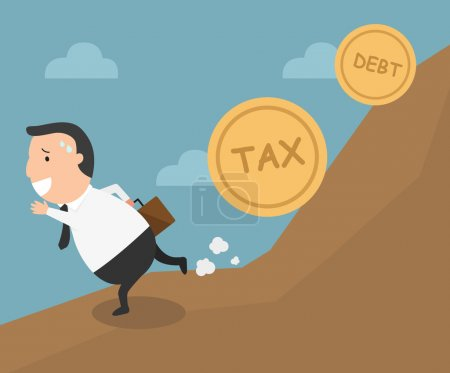The employee tries to run away from tax and debt