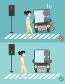 watch your stepwomen on the crosswalk
