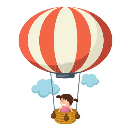 children in a balloon vector