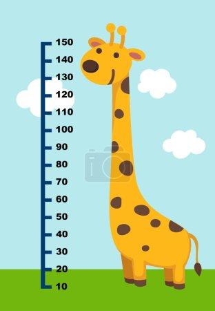 Meter wall with giraffe