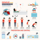 Dengue fever infographics vector illustration
