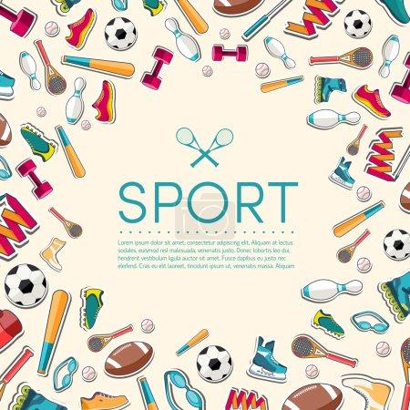 Sports equipment background.