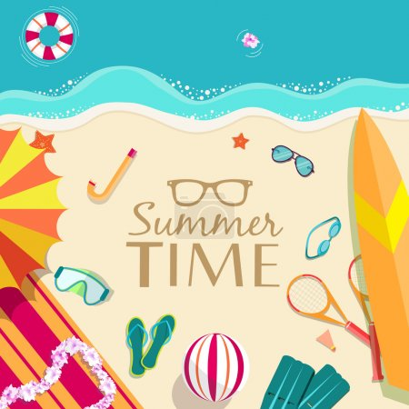 Summer vacation time background
