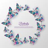 beautiful colorful butterfly background concept