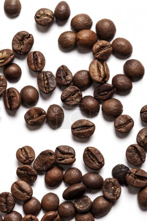 Photo for Coffee beans on white - Royalty Free Image