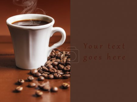 Coffee cup and beans 2 card...