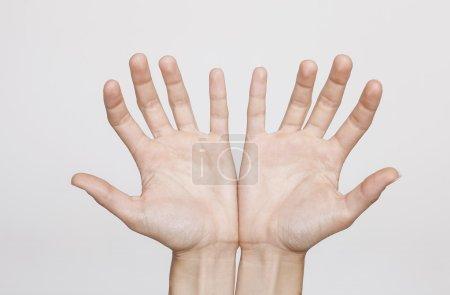 Open female hands