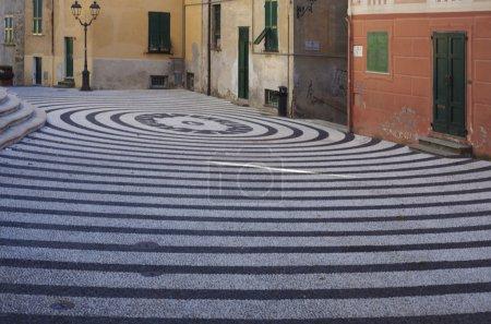 Piazza della Concordia glimpse in Albissola Marina, Liguria