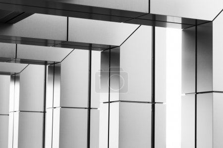 Abstract modern architectural detail black and white
