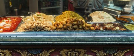Traditional chinese food exposed in Camden Town letterbox