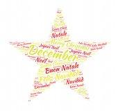 Christmas star tag cloud