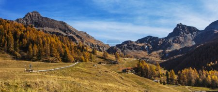 Beautiful autumn landscape in Aosta Valley letterbox