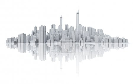 Skyline with reflection