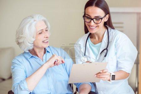 Nurse writing something down