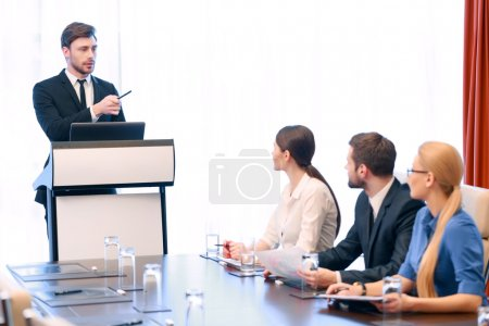 Business presentation at meeting