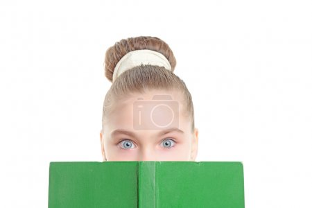 Small girl with a book