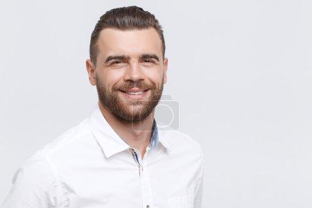 Close-up of smiling man
