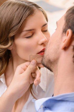 man commiting betrayal with housemaid