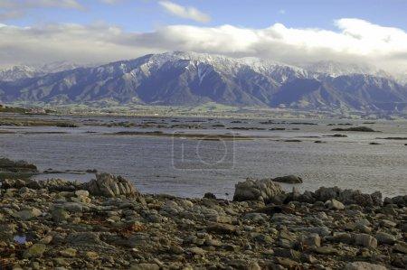zerklüftete Küstenlandschaft in Kaikoura, Neuseeland