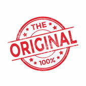 The Original rubber stamp red color