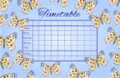 Timetable butterflies Parnassius vector
