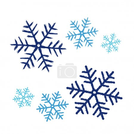 Vector illustration of snow flakes in doodle style...