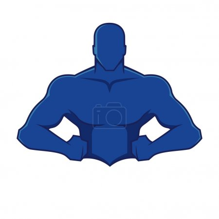 Muscle man figure