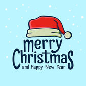 Merry Christmas Greetings With Santa Hat