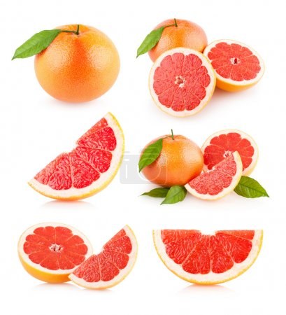 Photo for Set of 6 grapefruit images - Royalty Free Image
