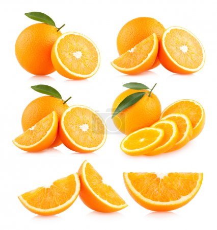 Photo for Collection of 6 orange images - Royalty Free Image