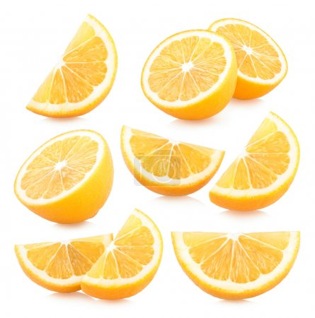 Set of lemon slices