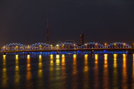 Night lights in Riga, Latvia...