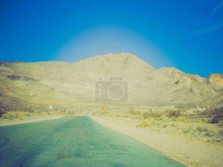 Retro look Rhyolite in Death Valley Nevada USA
