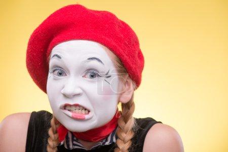 Portrait of female mime