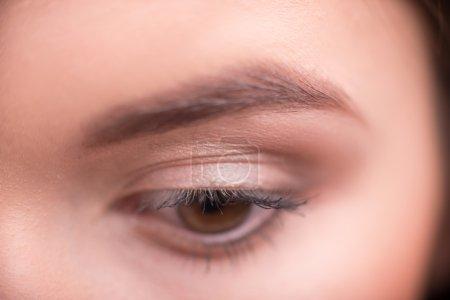 Brown woman eye