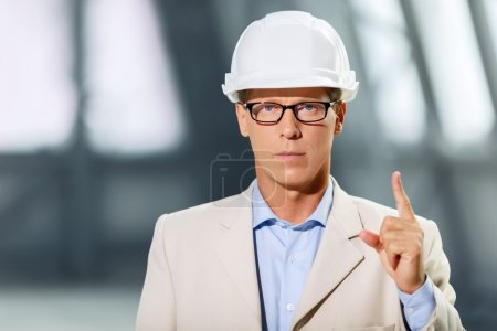 Professional architect  involved in work