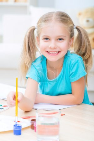 Pretty little sister painting