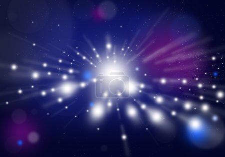 Photo pour Espace avec fond étoilé dans la galaxie - image libre de droit