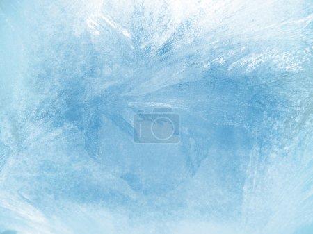 Ice on window background