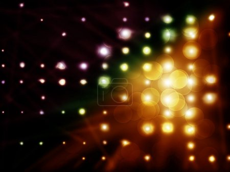 Bullet holes with light