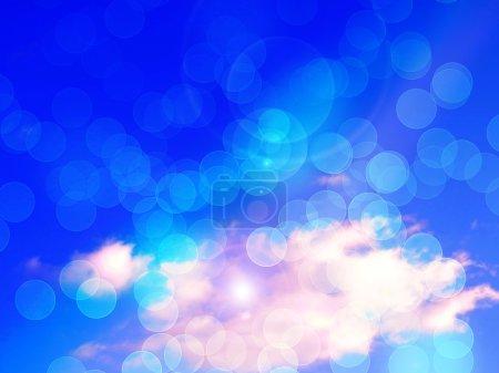 Blue sky bokeh background