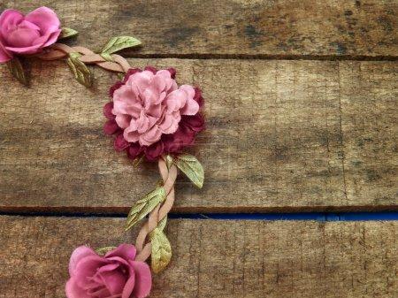 Pink flowers decoration