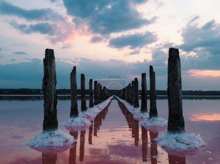Kuyalnik lake at sunset