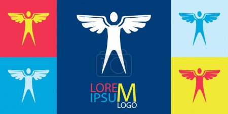 Vector Logo Template - Man with Wings