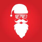 Hipster style Christmas card design Santa Claus