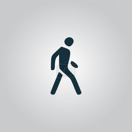 Illustration for Pedestrian. Flat web icon, sign or button isolated on grey background. Collection modern trend concept design style vector illustration symbol - Royalty Free Image