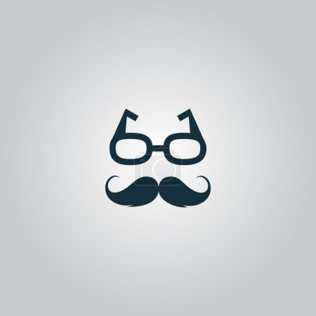 Nerd glasses and mustaches