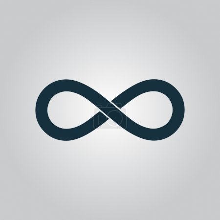 Infinity. Flat web icon or sign isolated on grey background. Collection modern trend concept design style vector illustration symbol